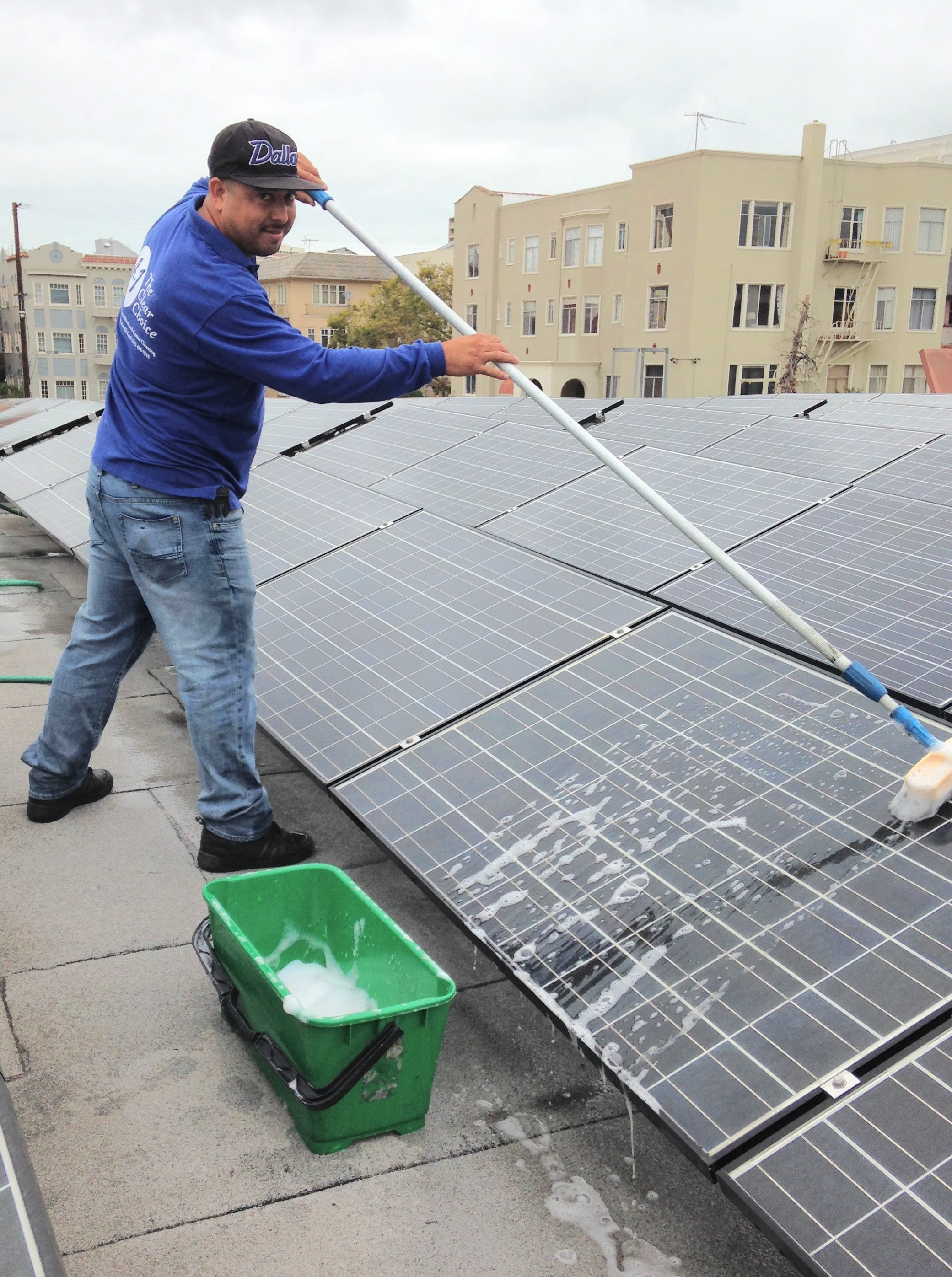 Solar Panel Cleaning Commercial Oakland A1 The Clear